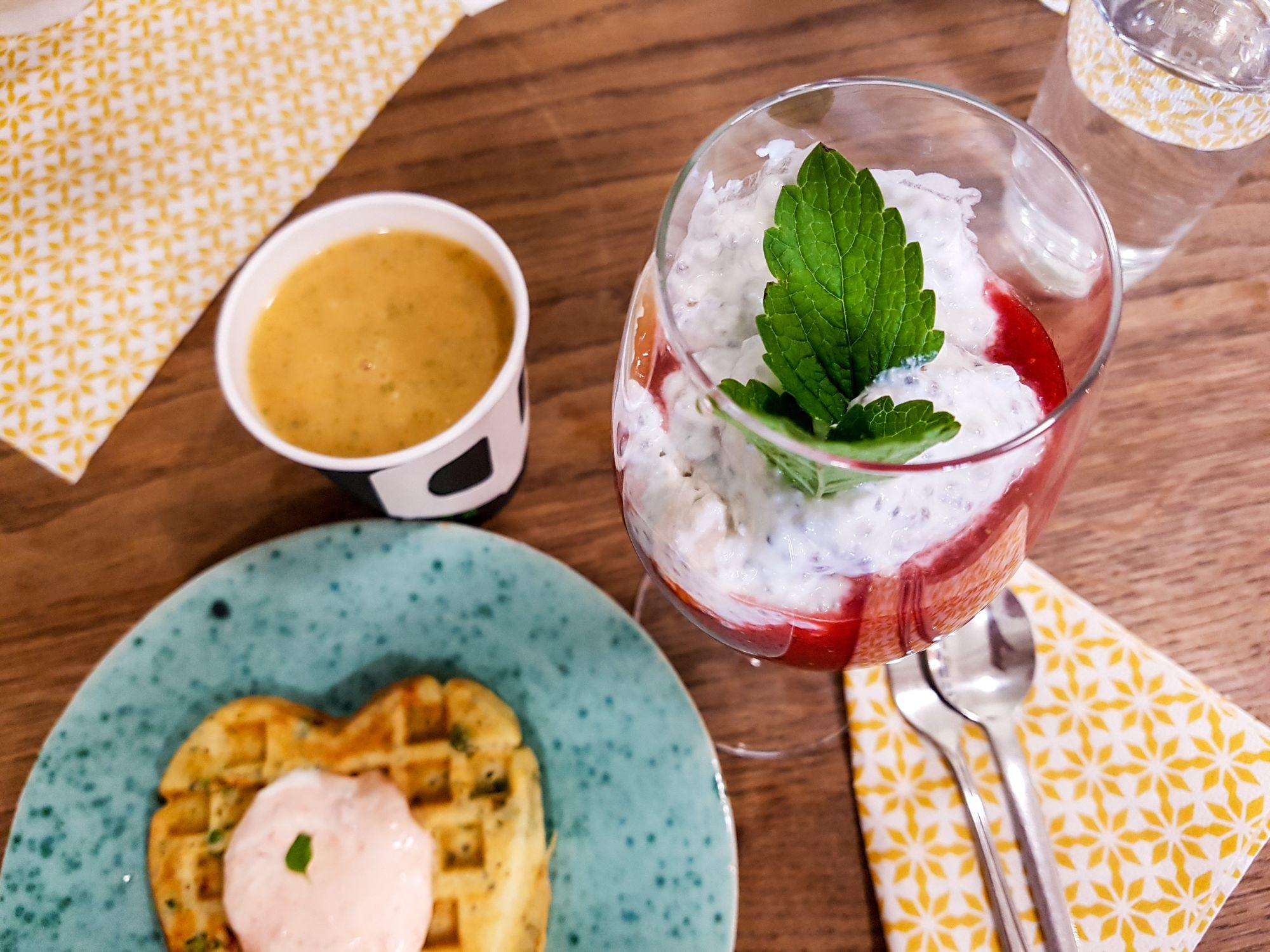 Erdbeer-Chia-Dessert als Abschluss (c) TravelWorldOnline Traveller