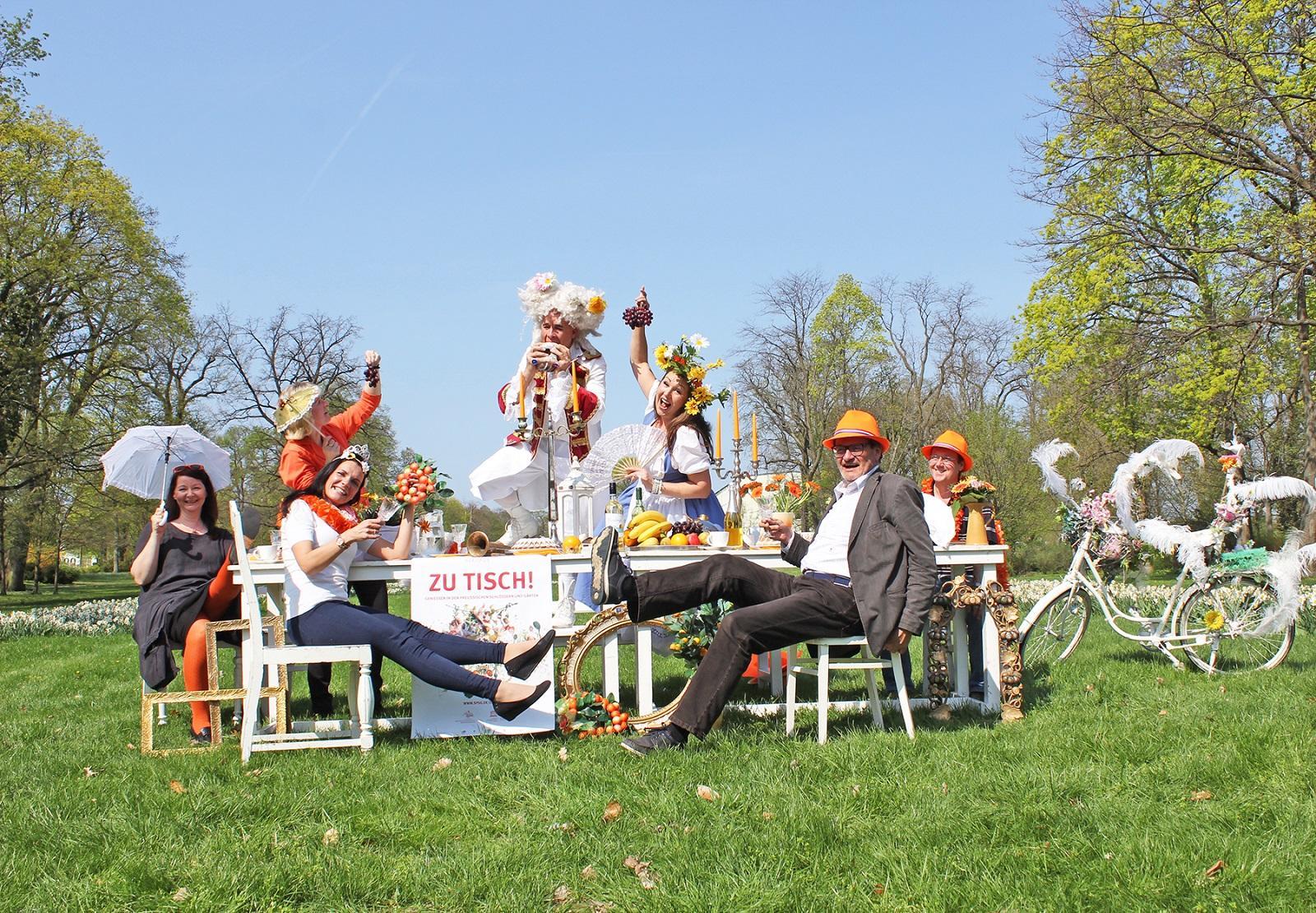 Orangefest im Park von Schloss Oranienburg (c) SPSG
