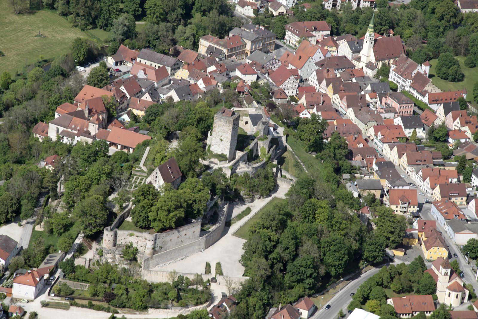 Burg Pappenheim, Luftaufnahme © Gräflich Pappenheim'sche Verwaltung