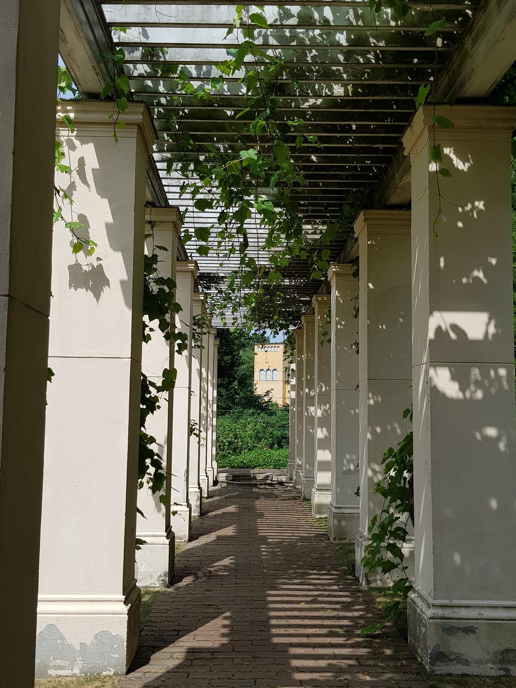 Schloss Glienicke, Pergola am Casino, Foto (c) Andrea Hahn | Text & Presse