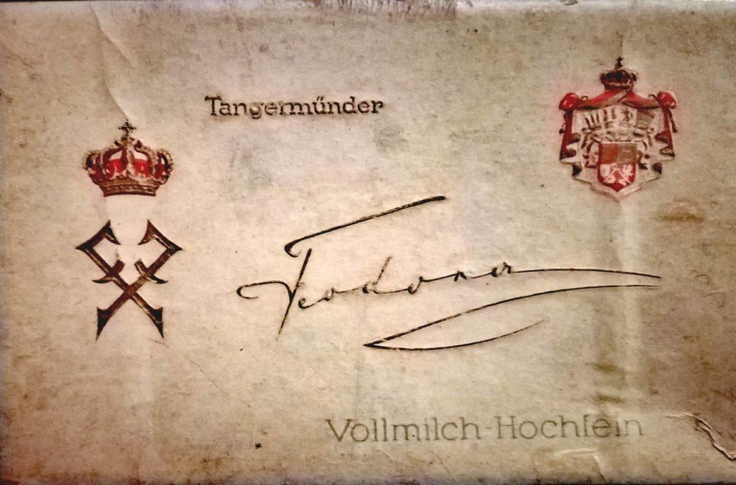 Feodora-Schokoladentäfelchen-Schachtel aus der Zeit um 1925 (c) Photo: Archiv Thomas Weiberg