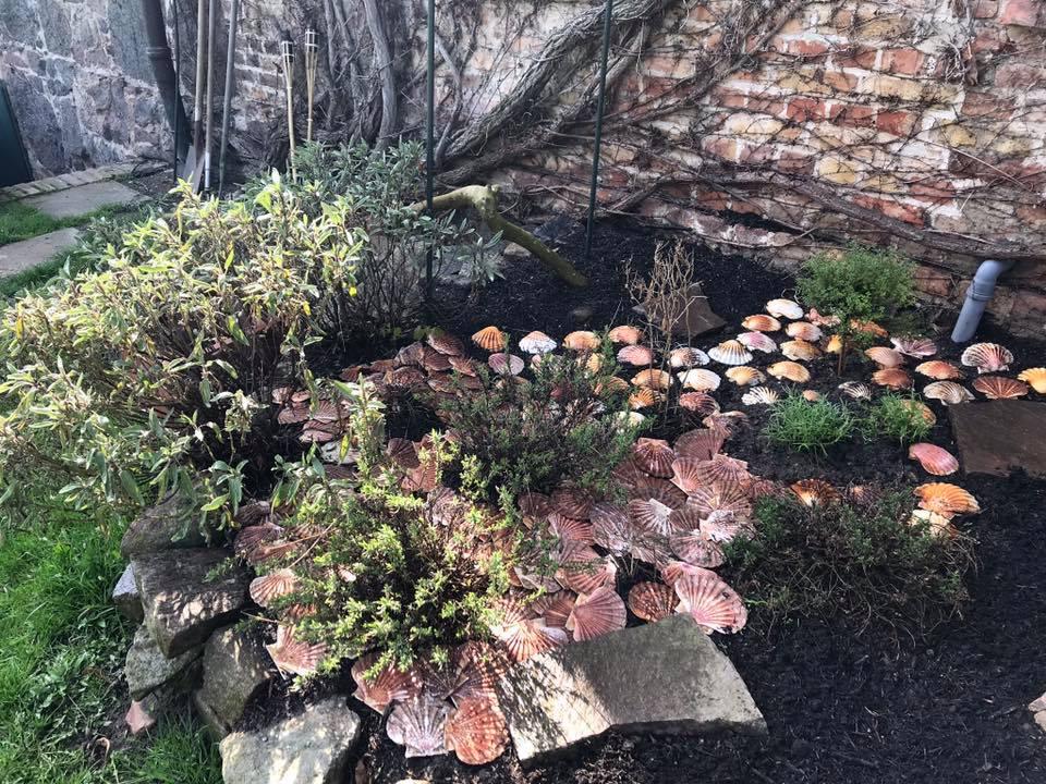 Der Muschelgarten des Gutshauses Stolpe