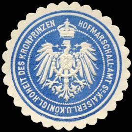 Siegelmarke des Hofmarschalls des preußischen und deutschen Kronprinzen, zw. 1850 und 1918, Quelle: Wikipedia