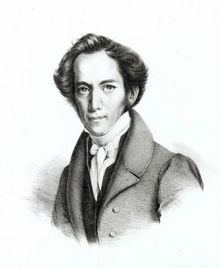 Porträt von Friedrich Schüler, ca. 1840