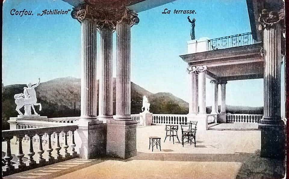 Eine der Terrassen des Achilleions