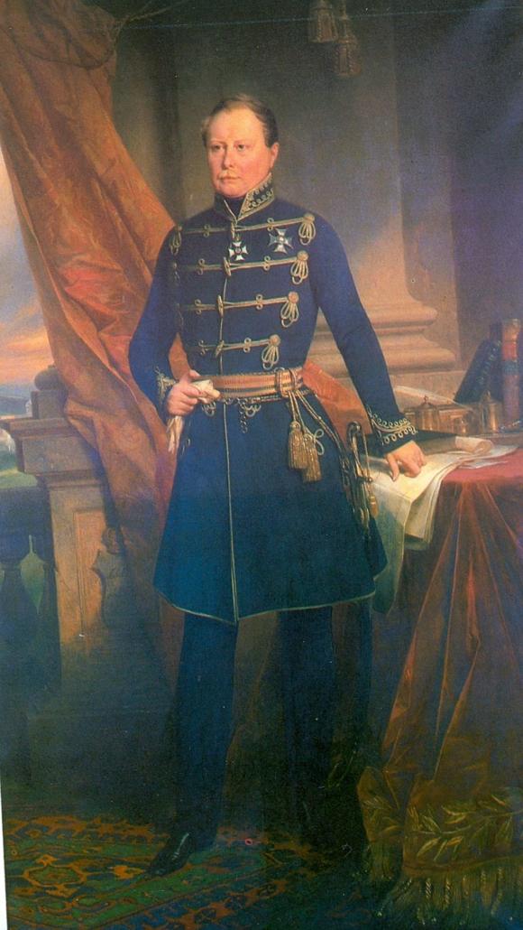 König Wilhelm I. von Württemberg, Ölgemälde von Joseph Karl Stieler aus dem Jahr 1827