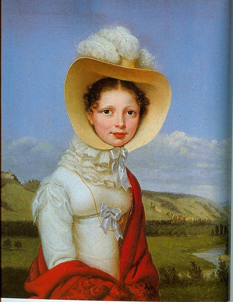 Königin Katharina von Württemberg, Gemälde von Franz Seraph Stirnbrand, 1819
