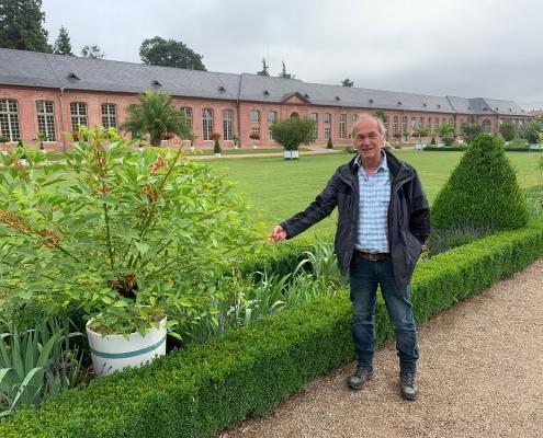 Helmut Krupp, Gärtnermeister im Schlosspark Schwetzingen